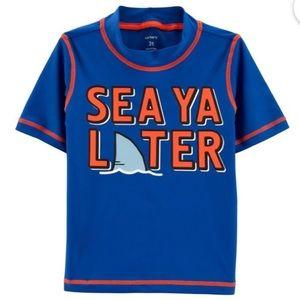Carters 3 Months Sea Ya Later Rashgaurd